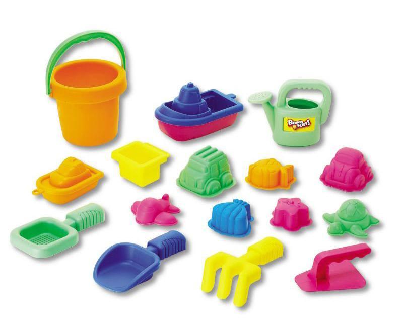 Купить Набор: 16 игрушек для песочницы в сетке, Keenway