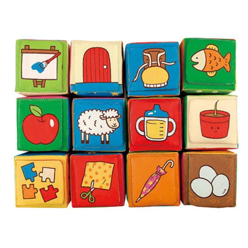 Кубики мягкие  Обучайка, 12 штук - Кубики, артикул: 172143