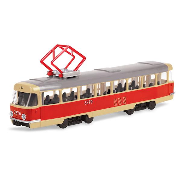 Трамвай металлический, инерционныйАвтобусы, трамваи<br>Трамвай металлический, инерционный<br>