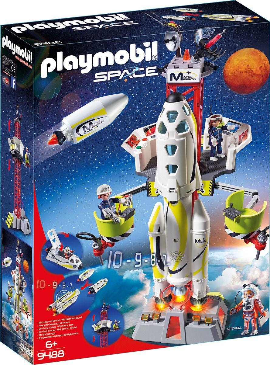 Купить Игровой набор Новинка 2019 из серии Космос: Ракета-носитель с космодромом, Playmobil