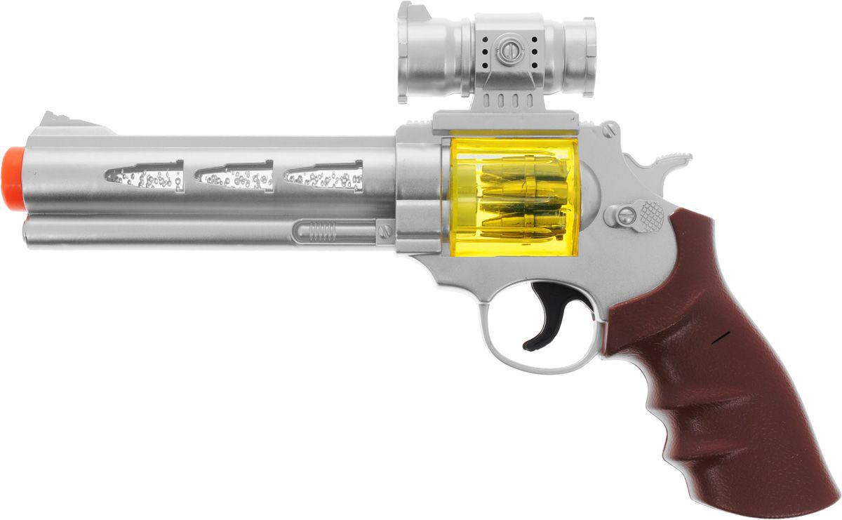 Револьвер штурмовой, со световыми и звуковыми эффектами, с пластмассовыми снарядамиАвтоматы, пистолеты, бластеры<br>Револьвер штурмовой, со световыми и звуковыми эффектами, с пластмассовыми снарядами<br>