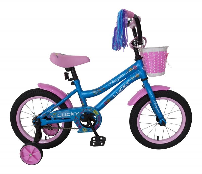 Купить Детский велосипед Navigator Lucky, колеса 14 , стальная рама, стальные обода, ножной тормоз, защитная накладка на руле и выносе