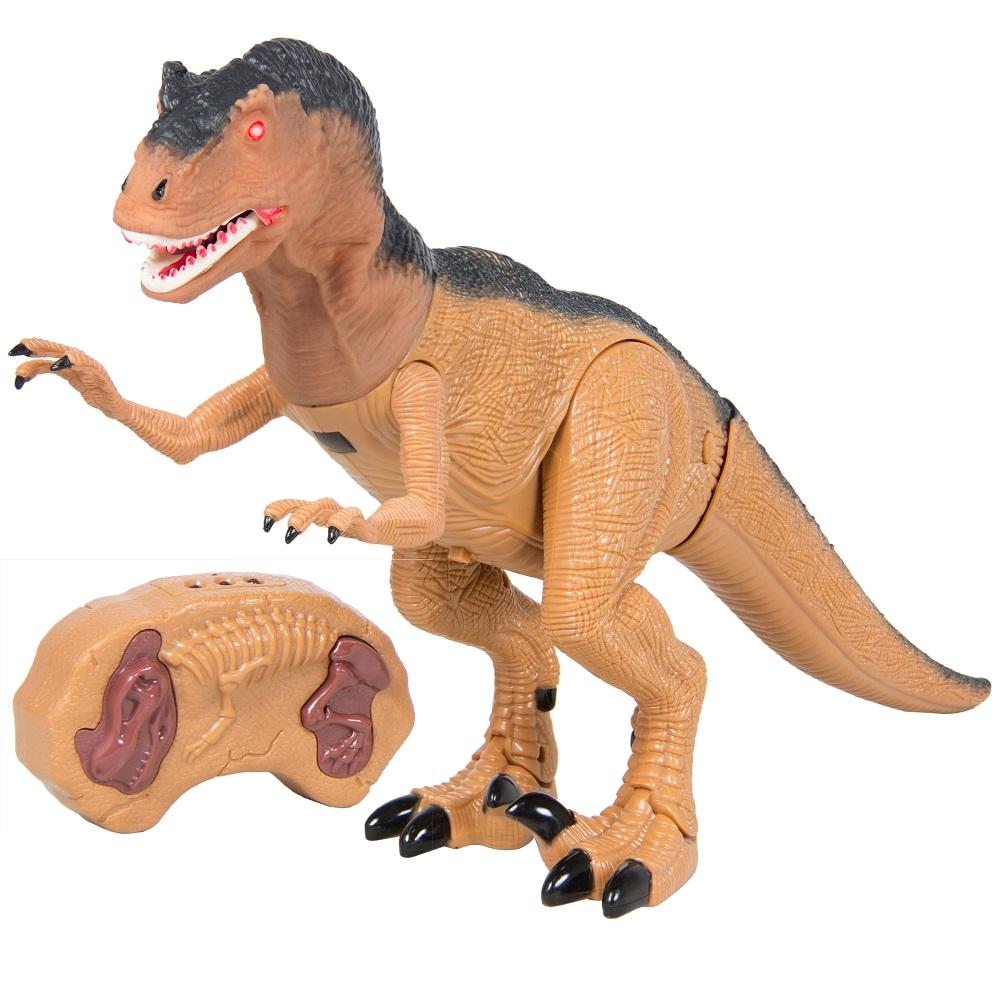 Купить Интерактивный Динозавр с инфракрасным пультом управления, звук, свет, голова из мягкого пвх, 1TOY