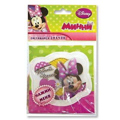 Значок светодиодный – Disney. МинниМикки Маус<br>Значок светодиодный – Disney. Минни<br>