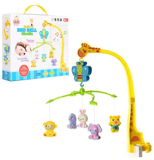 Музыкальный мобиль для детской кроватки - ЖирафМобили и музыкальные карусели на кроватку, игрушки для сна<br>Музыкальный мобиль для детской кроватки - Жираф<br>