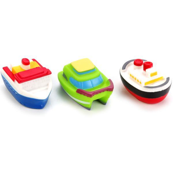 Игрушки для ванной – 3 корабляРезиновые игрушки<br>Игрушки для ванной – 3 корабля<br>