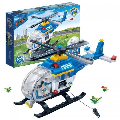 Купить Конструктор - Полицейский вертолет, 122 детали, BanBao