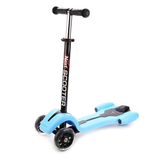 Самокат 3-х колёсный, голубойТрехколесные самокаты<br>Самокат 3-х колёсный, голубой<br>