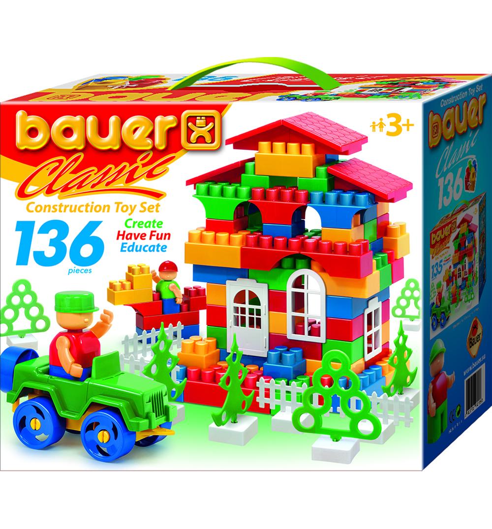 Конструктор Classik, 136 элементов - Конструкторы Bauer Кроха (для малышей), артикул: 127325