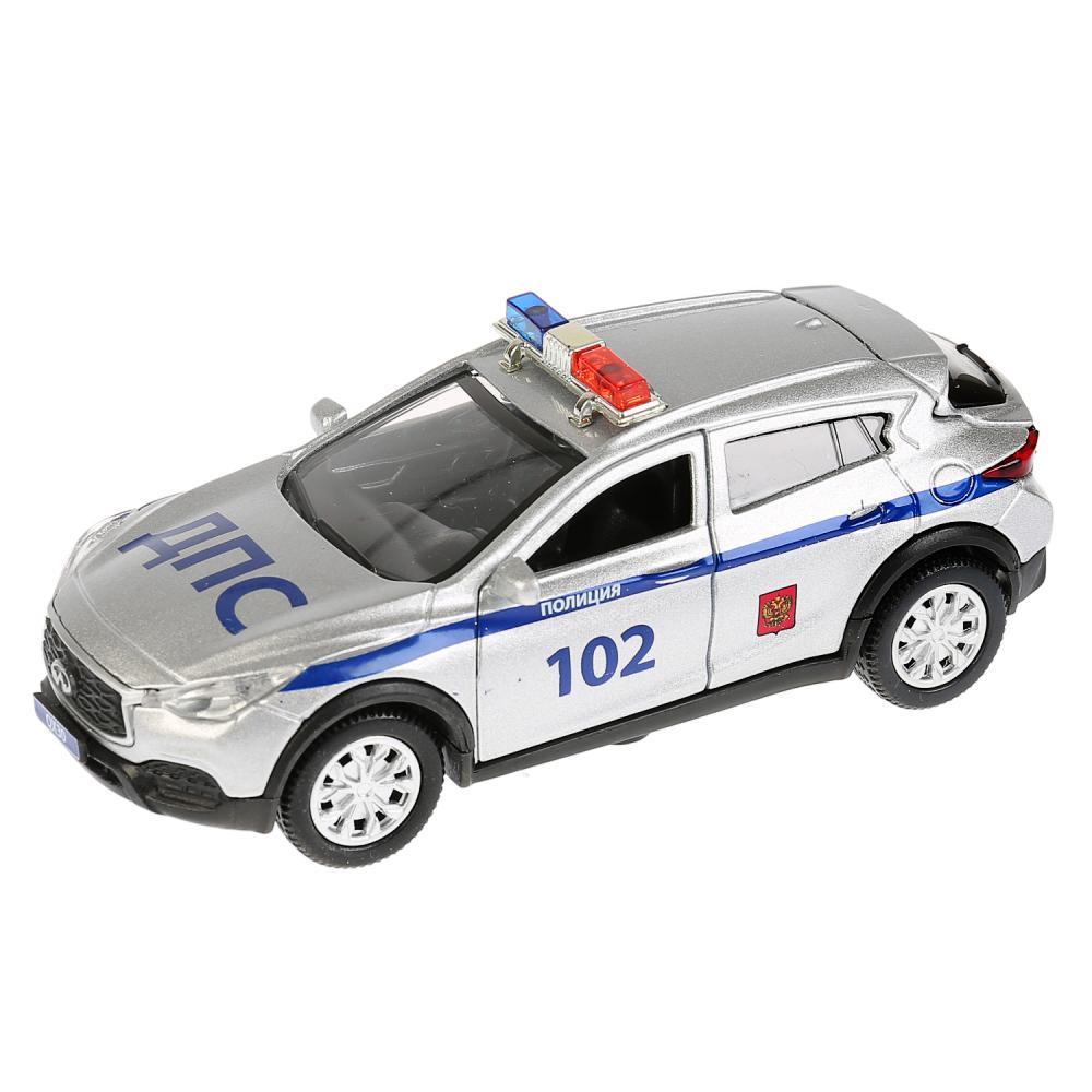 Купить Инерционная металлическая машина Infiniti Qx30 - Полиция, длина 12 см, , Технопарк