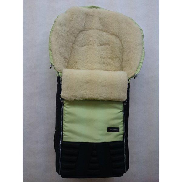 Спальный мешок в коляску №16 из серии Snowman, цвет – салатовый - Прогулки и путешествия, артикул: 171097
