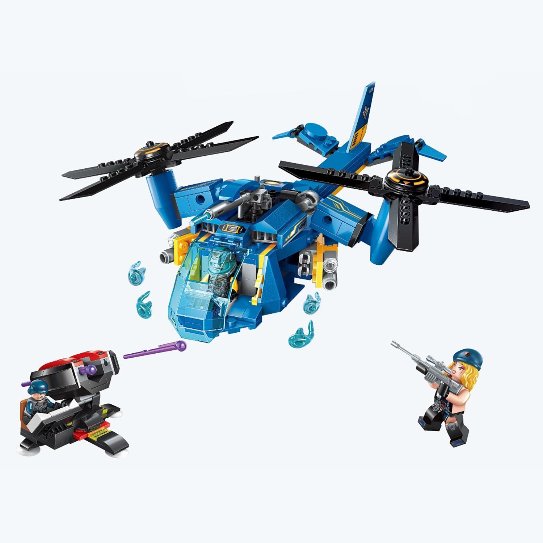 Конструктор – Военный вертолет с фигурками, 318 деталей ) по цене 995