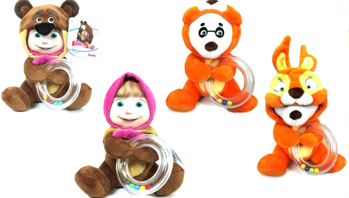 Погремушка маскарад «Маша и Медведь», 2 видаДетские погремушки и подвесные игрушки на кроватку<br>Погремушка маскарад «Маша и Медведь», 2 вида<br>