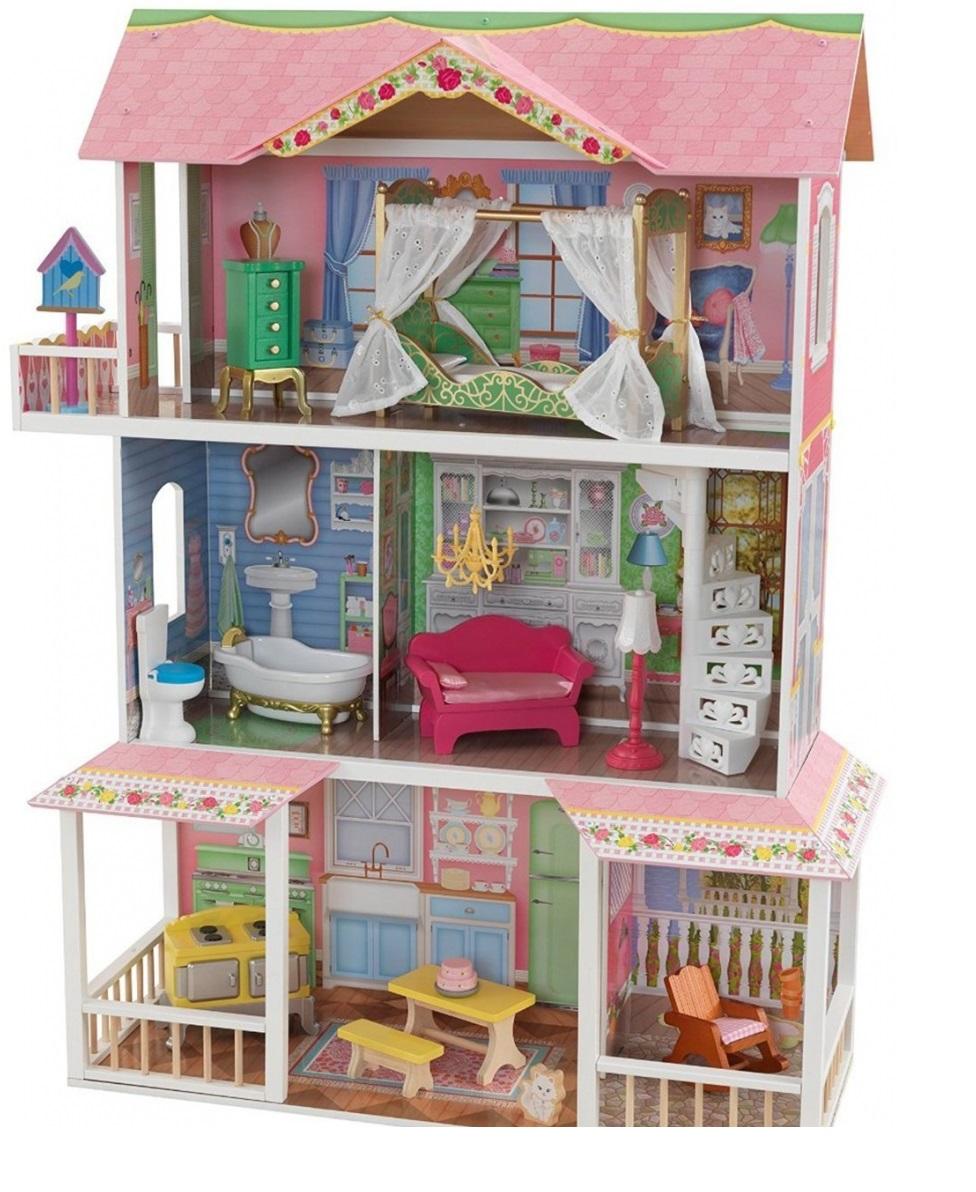 Купить Деревянный дом для Барби - Карамельная Саванна Sweet Savannah с мебелью, в подарочной упаковке, KidKraft