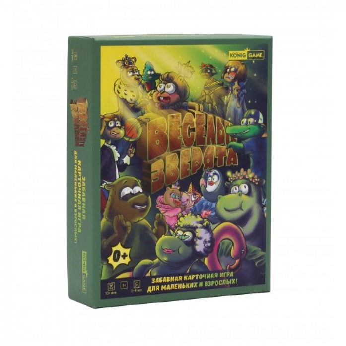 Купить Игра настольная карточная - Веселые зверята, обучающая, тактическая, семейная, Рыжий Кот