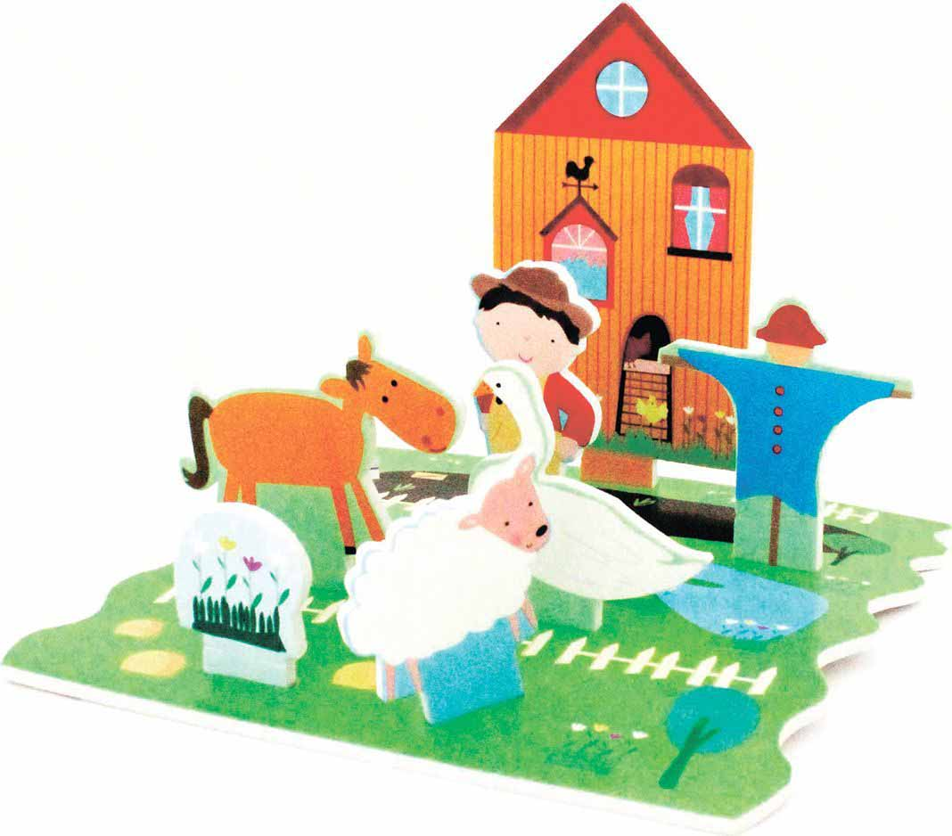 Стикеры для ванны - Веселая фермаИгровые наборы Зоопарк, Ферма<br>Стикеры для ванны - Веселая ферма<br>