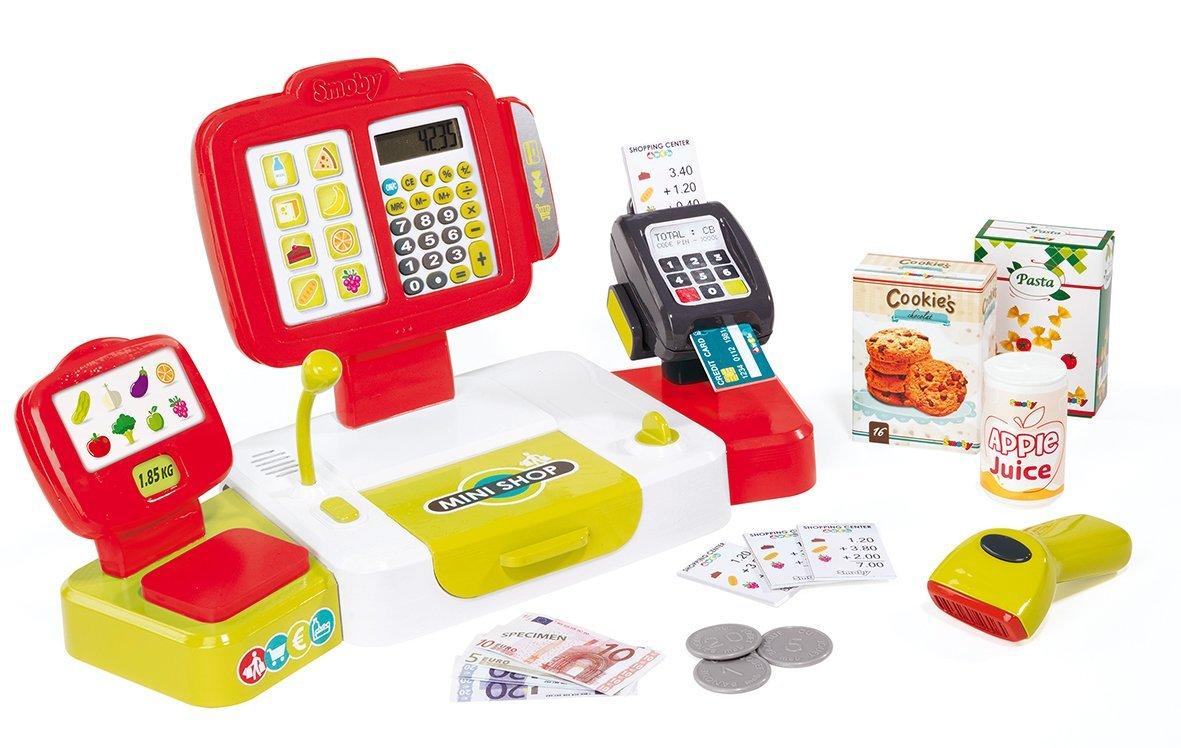 Детская электронная касса с аксессуарами, 27 предметовДетская игрушка Касса. Магазин. Супермаркет<br>Детская электронная касса с аксессуарами, 27 предметов<br>