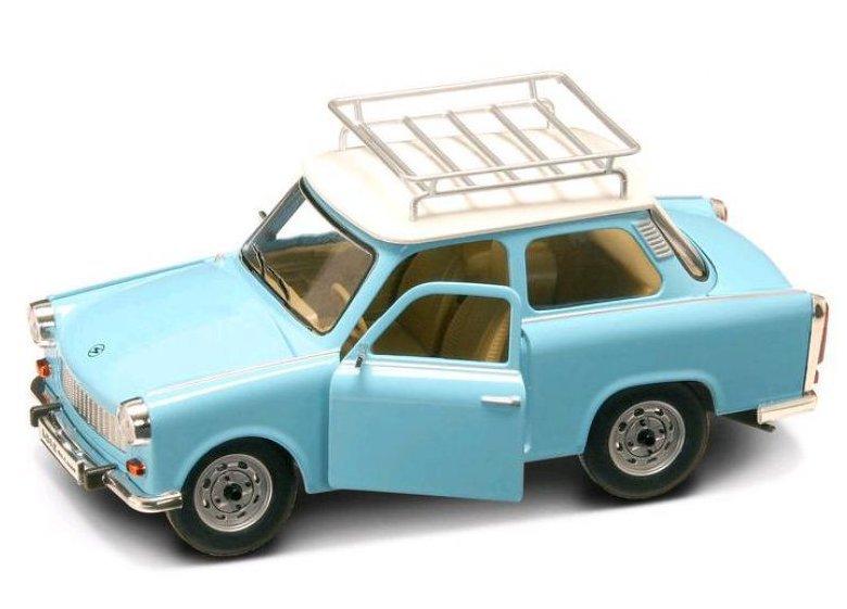 Коллекционный автомобиль - Трабант 601 с багажником образца 1963 года, масштаб 1/24Винтажные модели<br>Коллекционный автомобиль - Трабант 601 с багажником образца 1963 года, масштаб 1/24<br>