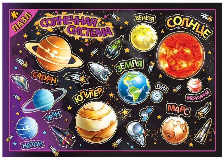 Купить Магнитный пазл - Солнечная Система, Геоцентр