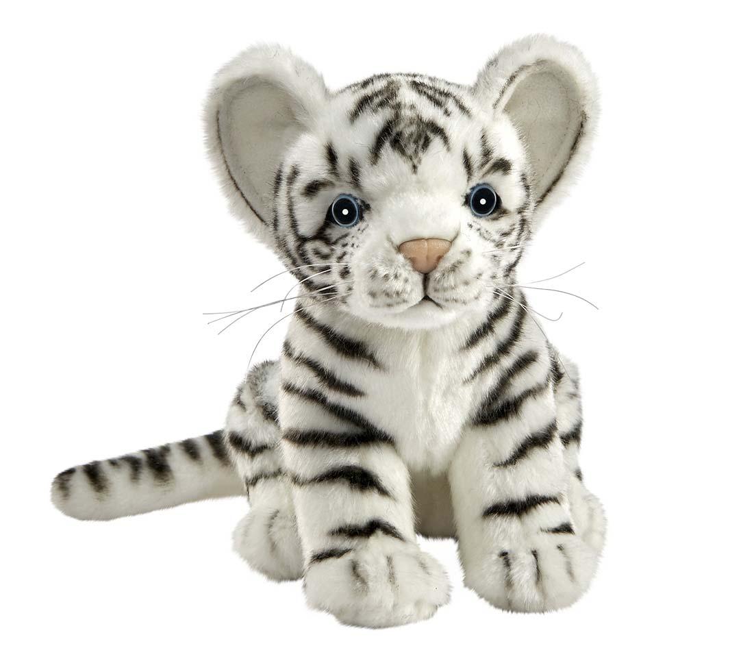 Купить Мягкая игрушка – Белый тигренок, 17 см, Hansa