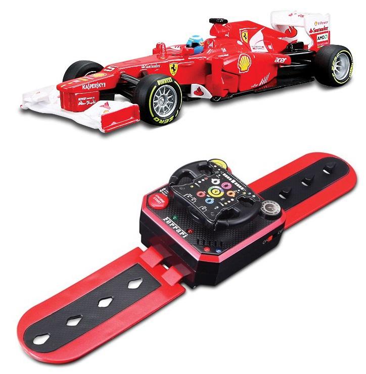 Машинка Bburago Ferrari Формула 1, с пультом управления для запястьяМашины на р/у<br>Машинка Bburago Ferrari Формула 1, с пультом управления для запястья<br>