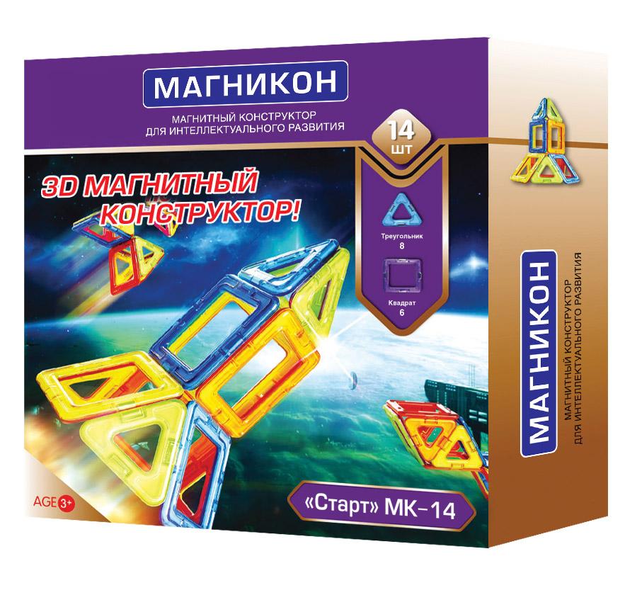 Конструктор магнитный – Старт, 14 элементов - MEGASALE, артикул: 149453