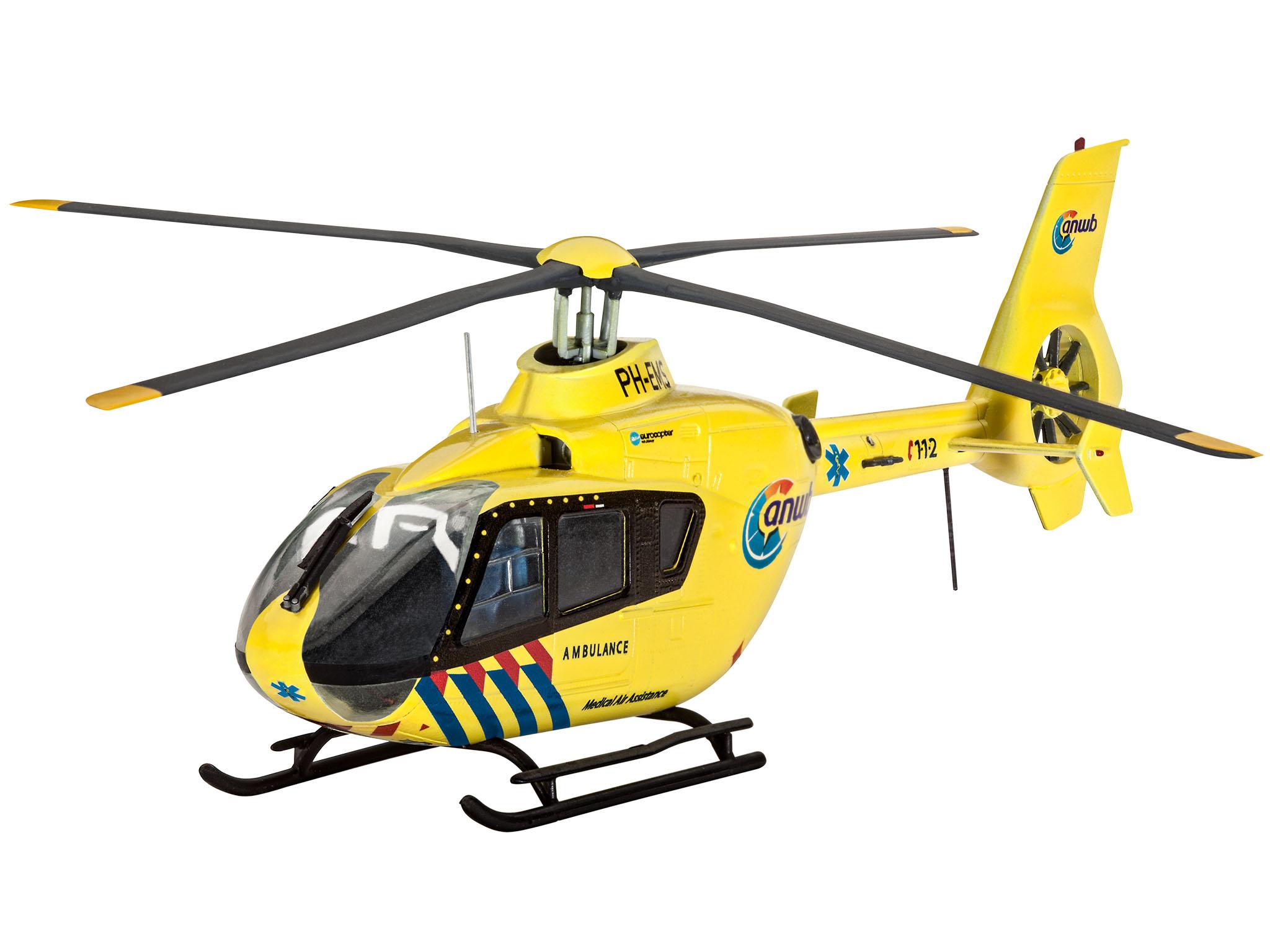 Сборная модель - Вертолет EC135 Nederlandse TraumaМодели вертолетов для склеивания<br>Сборная модель - Вертолет EC135 Nederlandse Trauma<br>