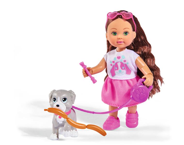 Купить Кукла Еви из серии Holiday, с собачкой и аксессуарами, 12 см., Simba