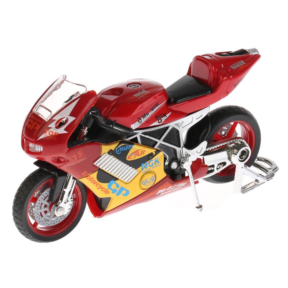 Мотоцикл Суперспорт, 11, 5 см, озвученный, подвижные элементы, металлический, Технопарк  - купить со скидкой