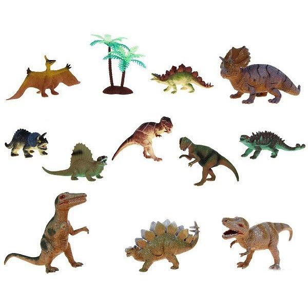 Игровой набор из 11 фигурок динозавров и дереваЖизнь динозавров (Prehistoric)<br>Игровой набор из 11 фигурок динозавров и дерева<br>