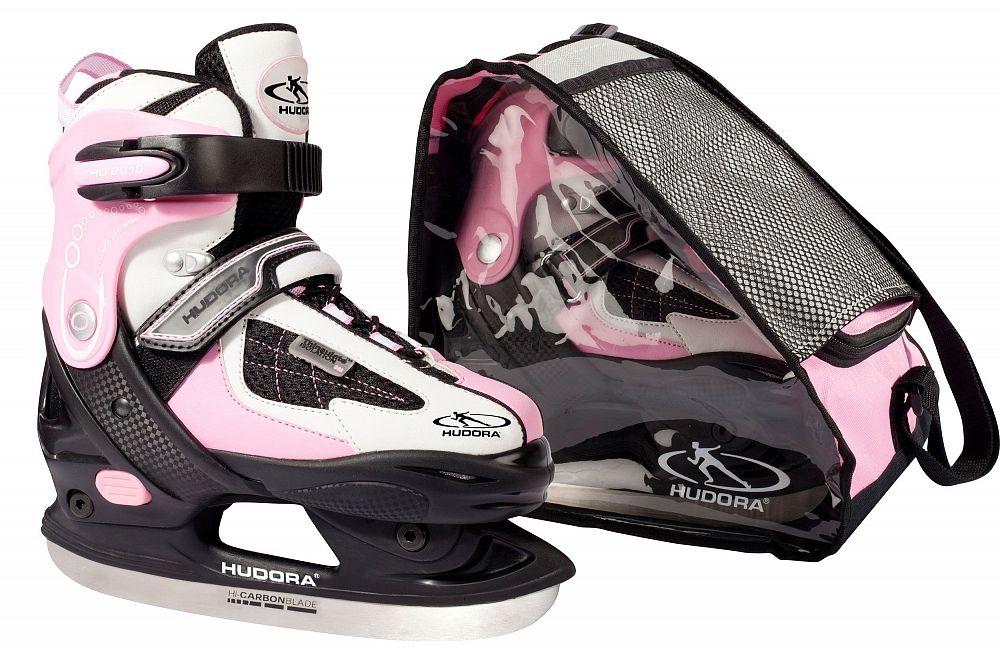Коньки раздвижные Hudora, Set HD, 32-35, розовые