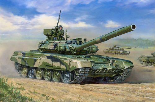 Модель для склеивания - Основной боевой танк Т-90Модели танков для склеивания<br>Модель для склеивания - Основной боевой танк Т-90<br>