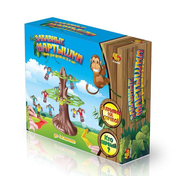 Детская настольная игра - Забавные мартышки, RINZOДля самых маленьких<br>Детская настольная игра - Забавные мартышки, RINZO<br>