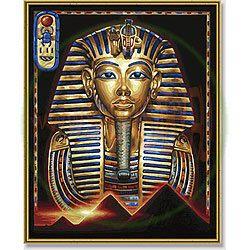 Маска Тутанхамона, 40*50 смРаскраски по номерам Schipper<br>Раскраска по номерам Маска Тутанхамона<br>Размер готовой работы: 40 х 50 см.<br>В состав набора входят: высококачественные акриловые краски...<br>