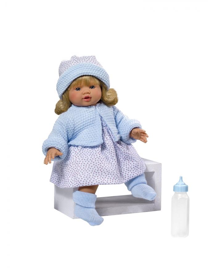 Кукла Эмма в теплой голубой кофточке, 36 см.Куклы ASI (Испания)<br>Кукла Эмма в теплой голубой кофточке, 36 см.<br>