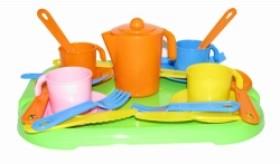 Детский игрушечный набор посуды АнютаАксессуары и техника для детской кухни<br>Детский игрушечный набор посуды Анюта<br>