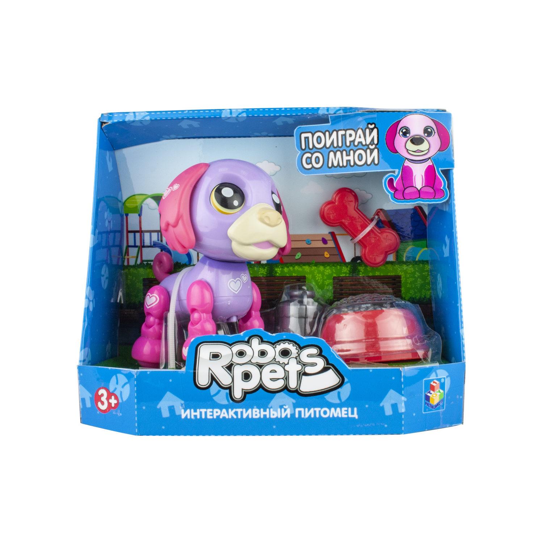 Интерактивная игрушка - Озорной щенок, фиолетовый/фуксия, звук фото