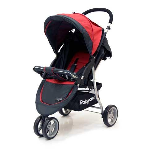 Коляска прогулочная Jogger Lite, redДетские коляски Capella Jetem, Baby Care<br>Коляска прогулочная Jogger Lite, red<br>