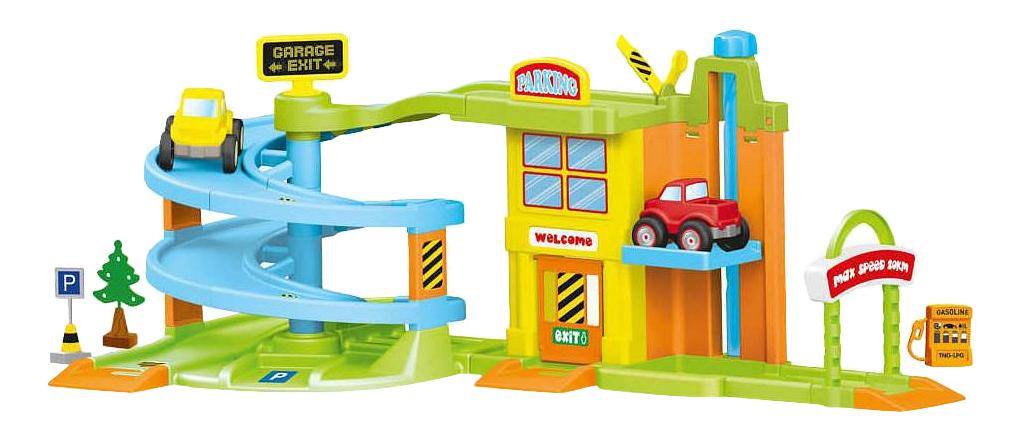 Гараж с треком, 2 уровняДетские парковки и гаражи<br>Гараж с треком, 2 уровня<br>