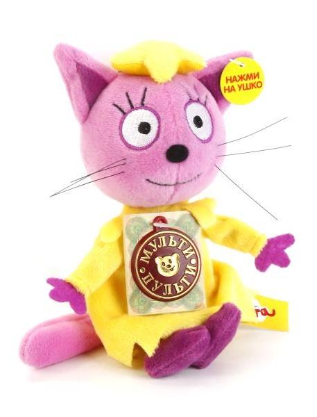 Мульти-Пульти™. Мягкая игрушка 3 кота - Лапочка, 13 см, озвученнаяГоворящие игрушки<br>Мульти-Пульти™. Мягкая игрушка 3 кота - Лапочка, 13 см, озвученная<br>
