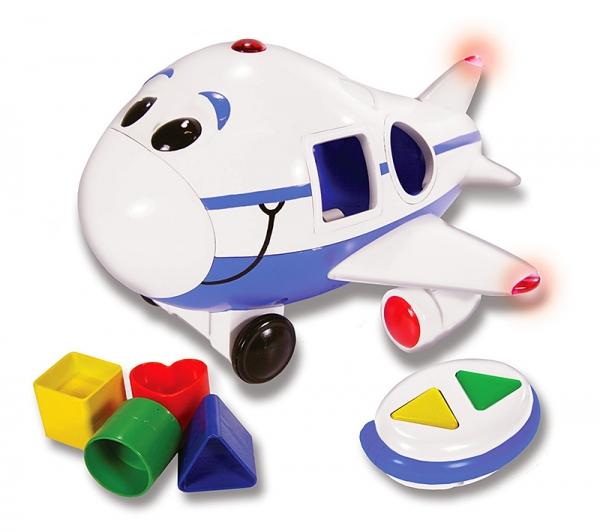 Самолет-сортер на радиоуправлении, свет и звукСортеры, пирамидки<br>Самолет-сортер на радиоуправлении, свет и звук<br>