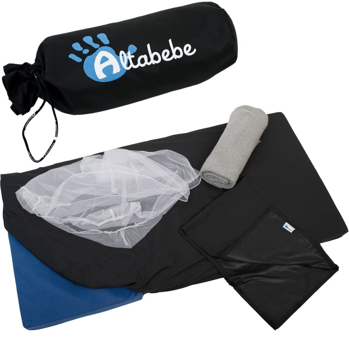 Купить Набор аксессуаров для путешествий 4 в 1: москитная сетка, одеяло из флиса, сумка, простыня, чехол, Altabebe