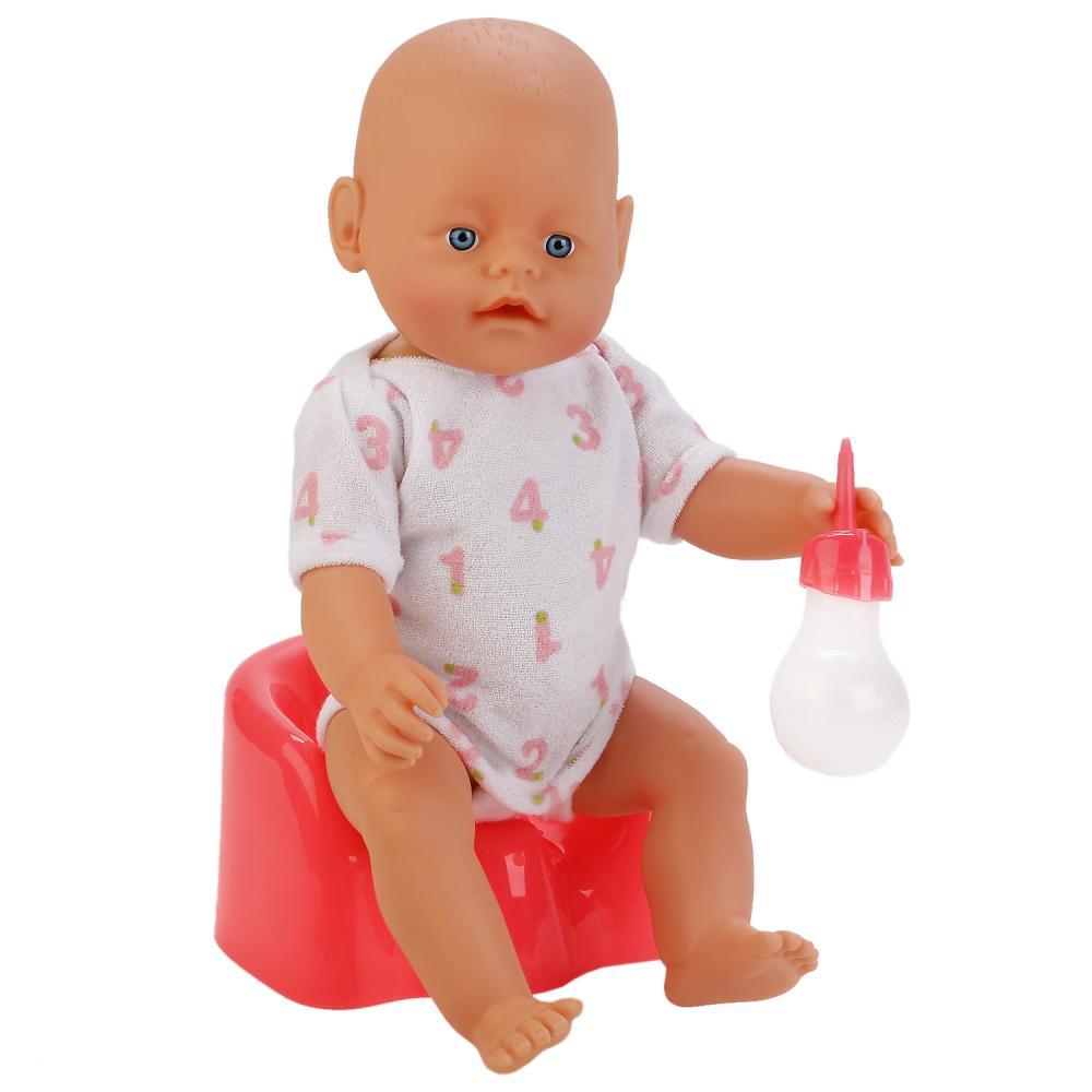 Купить Интерактивная кукла с аксессуарами – Пупс Женечка, пьет и писает, 43 см