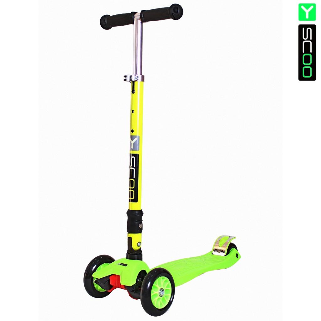 Купить Самокат Y-Scoo 35 Maxi Fix Simple, зеленый