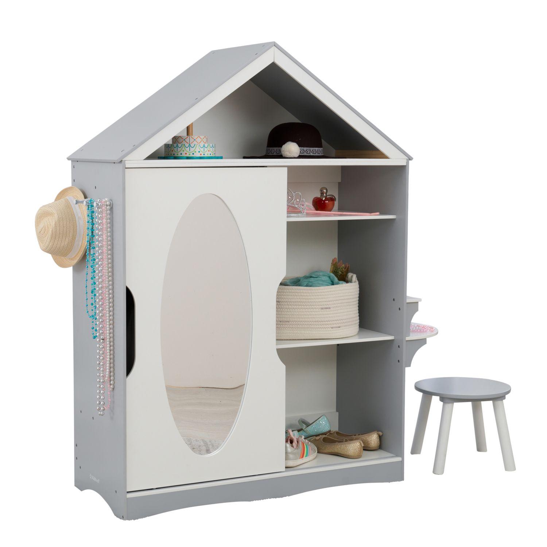 Купить Детский шкаф для одежды, серый, KidKraft