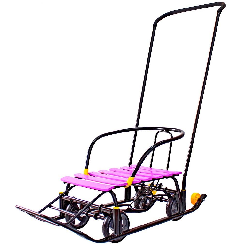 Снегомобиль Snow Galaxy Black Auto - сливовые рейки на больших мягких колесахСанки и сани-коляски<br>Снегомобиль Snow Galaxy Black Auto - сливовые рейки на больших мягких колесах<br>