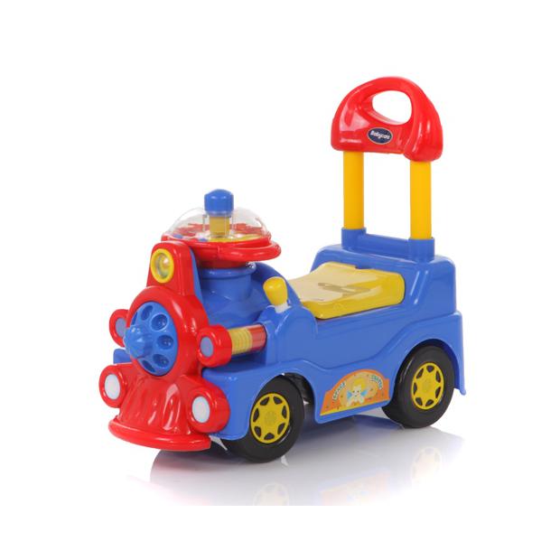 Детская синяя каталка со звуковым эффектом TrainМашинки-каталки для детей<br>Детская синяя каталка со звуковым эффектом Train<br>