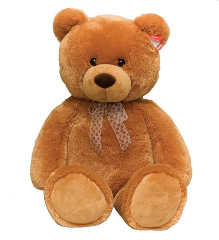 Медведь коричневый сидячий 80 см - Медведи, артикул: 25306