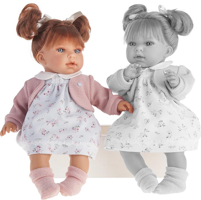 Кукла Лорена в белом, озвученная, 37 см.Куклы Антонио Хуан (Antonio Juan Munecas)<br>Кукла Лорена в белом, озвученная, 37 см.<br>