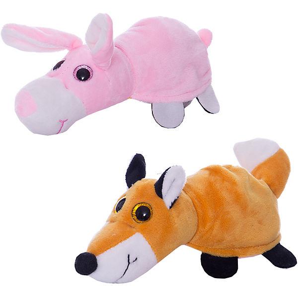 Купить Мягкая игрушка-перевертыш – Лиса/Заяц, 16 см, Teddy